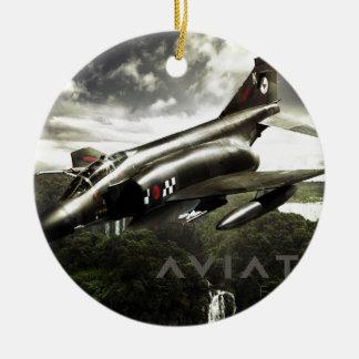 F-4 Phantom Fighter Jet Ceramic Ornament