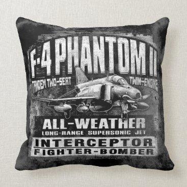 F-4 Phantom II Throw Pillow Throw Pillow