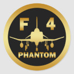 F-4 PHANTOM JET ROUND STICKERS