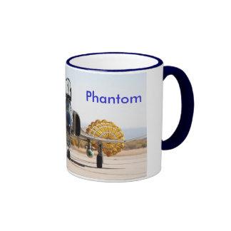 F-4 Phantom with Drag Chute, F4, AC Ringer Coffee Mug
