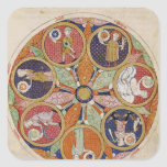 F.56r Table of Planets Square Sticker