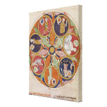F.56r Table of Planets Stretched Canvas Prints