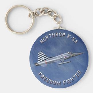 F-5 Freedom Fighter Basic Round Button Keychain