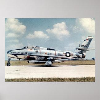 F-84F Thunderstreak Poster