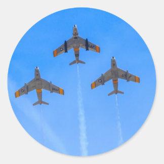 F-86 norteamericano SABRE Etiqueta Redonda