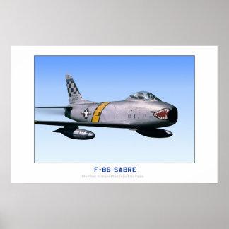 F-86 norteamericano SABRE Posters