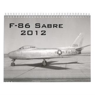 F-86 Sabre Calendar