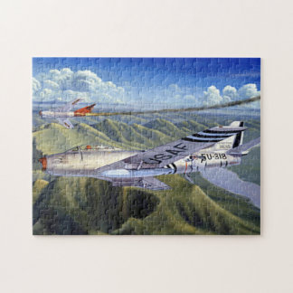 F-86 Sabre In Flight Jigsaw Puzzle