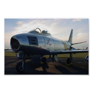 F-86 Sabre Jet on Ramp at Oshkosh Poster
