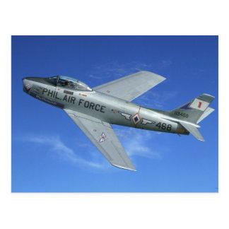 F-86 Sabre Jet Postcard