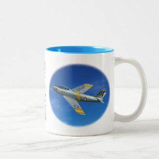 "F-86F ""Sabre Jet Two-Tone Coffee Mug"