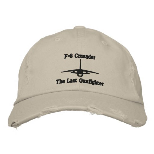 F-8 Crusader Golf Hat W/Call Sign on Back Embroidered Hats