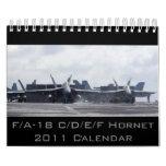 F/A-18 avispón 2011 Calendarios De Pared