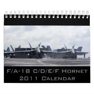 F/A-18 avispón 2011 Calendario De Pared