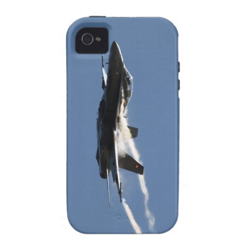 F/A-18, CF-18 Hornet Aircraft Action Photo Design iPhone 4/4S Cases