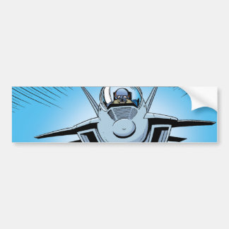 F/A 18 Fighter Jet Cartoon Bumper Sticker
