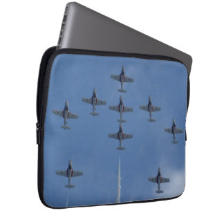 F/A-18 Fighter Jet Plane Air Show Stunt Laptop Sleeve