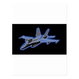 F/A-18 Hornet Blue Fighter Jet Postcard