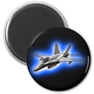 F/A-18 Hornet Fighter Jet Light Blue Magnets