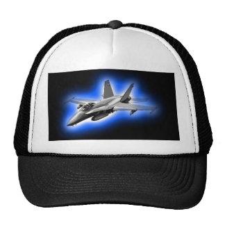 F/A-18 Hornet Fighter Jet Light Blue Trucker Hat