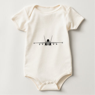 F/A-18 Hornet - Sihlouette Head-On Baby Bodysuit