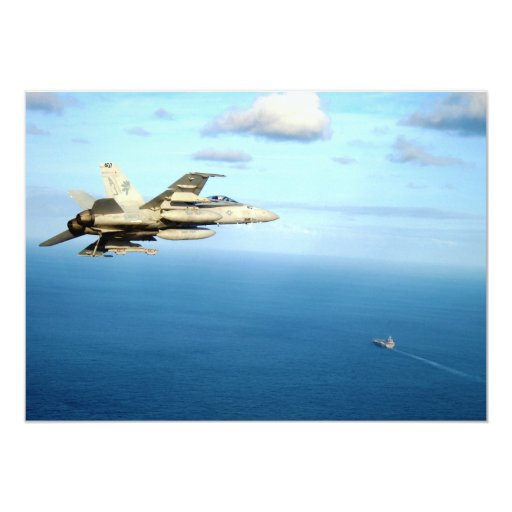 F/A-18A Hornet Strike Fighter Squadron 87 Personalized Invitations