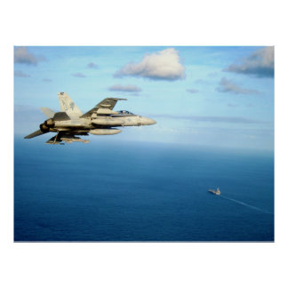 F/A-18A Hornet Strike Fighter Squadron 87 Poster