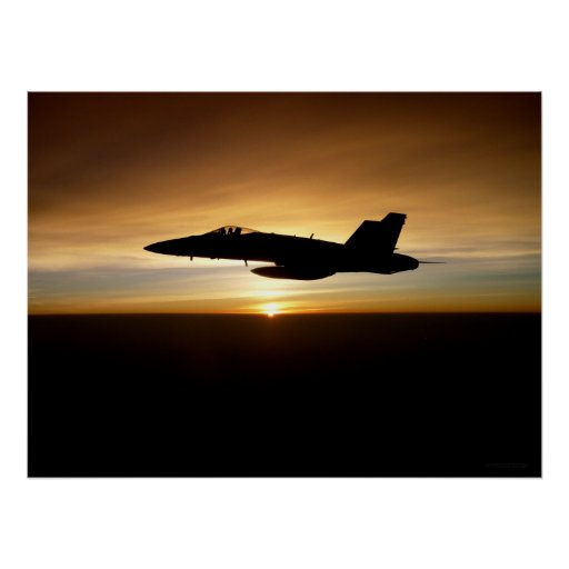 F/A-18C at Sunset Posters