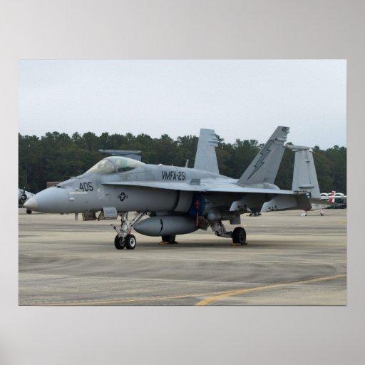 F/A-18C de VMFA-251 de MCAS Beaufort, SC Posters