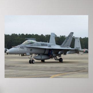 F/A-18C de VMFA-251 de MCAS Beaufort, SC Póster