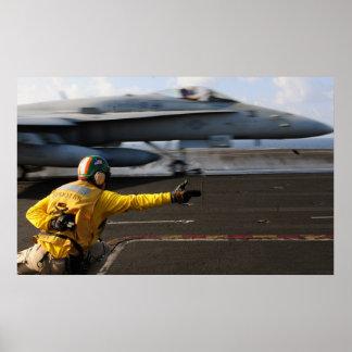 F/A-18C Hornet aboard the USS Dwight D. Eisenhower Poster