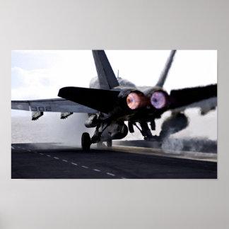 F/A-18C Hornet Afterburner Takeoff Poster