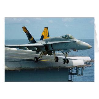 F A-18C Hornet Golden Dragons Strike Fighter Greeting Card