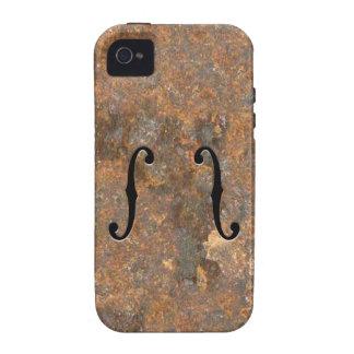 F-Agujeros oxidados Case-Mate iPhone 4 Funda