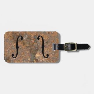 F-Agujeros oxidados Etiquetas Para Maletas