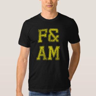 F&AM liberan y camiseta aceptada del albañil - Polera