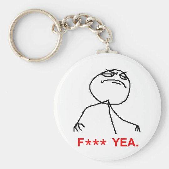 F Asterisk Yea Keychain