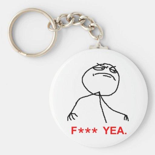 F Asterisk Yea Keychains