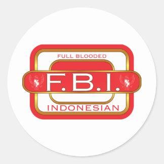 F B I Indonesian Classic Round Sticker