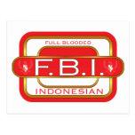 F B I Indonesian Post Cards