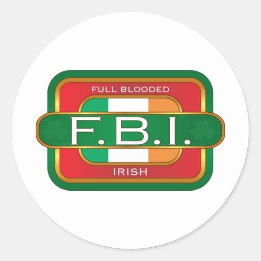 F B I Irish Stickers