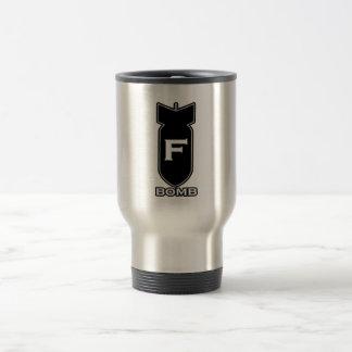 F Bomb 15 Oz Stainless Steel Travel Mug