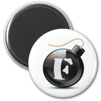 F-bomb 2 Inch Round Magnet