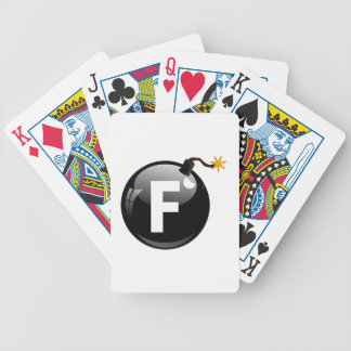 F Bomb Bicycle Playing Cards