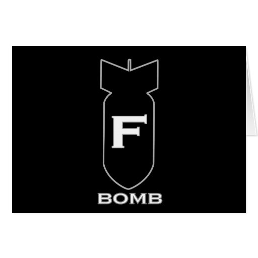 F Bomb Greeting Cards