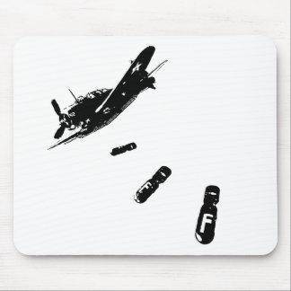 F-Bomb Diver (Black) Mouse Pad