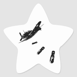 F-Bomb Diver (Black) Star Sticker