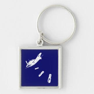 F-Bomb Diver (White) Key Chains
