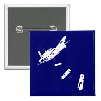 F-Bomb Diver (White) Pinback Button