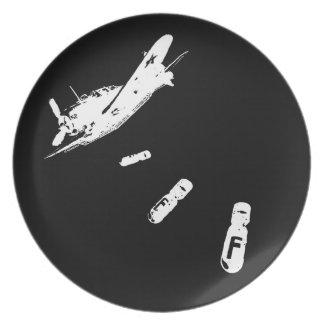 F-Bomb Diver (White) Plate
